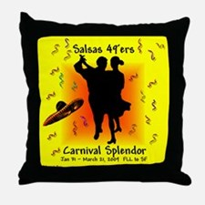 Carnival Splendor Salsas 49'ers Throw Pillow