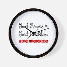 Anti Illegal Immigration Wall Clock