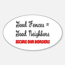 Anti Illegal Immigration Oval Decal