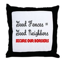 Anti Illegal Immigration Throw Pillow