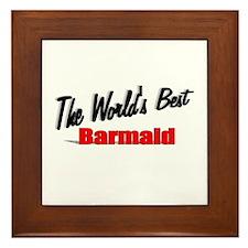 """""""The World's Best Barmaid"""" Framed Tile"""