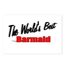 """The World's Best Barmaid"" Postcards (Package of 8"