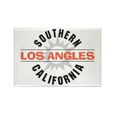 Los Angeles Rectangle Magnet (10 pack)