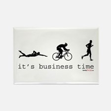 It's Business Time Triathlon Rectangle Magnet