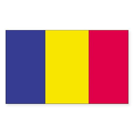 Andorra Country Flag Rectangle Sticker