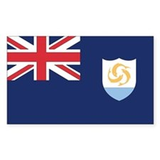 Anguilla Country Flag Rectangle Decal