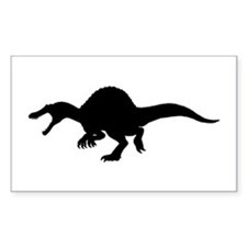 Spinosaurus Silhouette Rectangle Decal