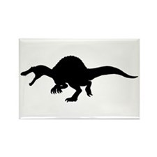 Spinosaurus Silhouette Rectangle Magnet