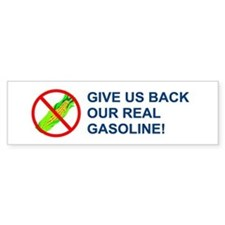 Real Gasoline! Bumper Bumper Sticker