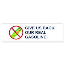 Real Gasoline! Bumper Car Sticker
