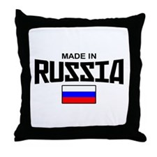 Made in Russia Throw Pillow