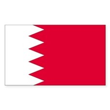 Bahrain Country Flag Rectangle Decal