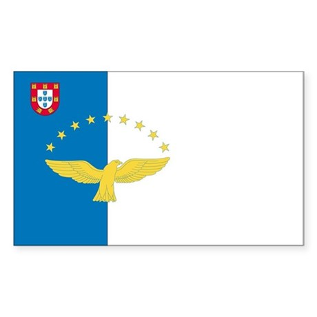 Azores Country Flag Rectangle Sticker