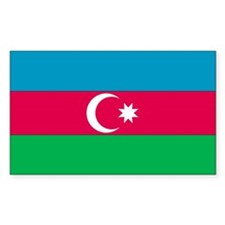 Azerbaijan Country Flag Rectangle Decal