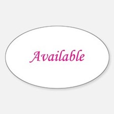 Available Oval Decal