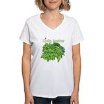 I dig hostas Women's V-Neck T-Shirt