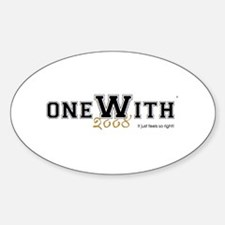 OneWith...2008 Oval Decal