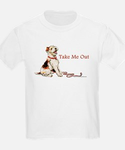 Wire Fox Terrier Dog Walk T-Shirt