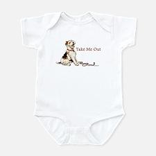 Wire Fox Terrier Dog Walk Infant Bodysuit