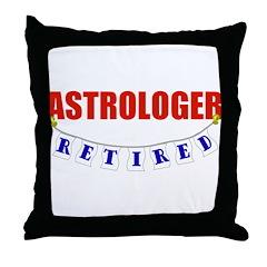 Retired Astrologer Throw Pillow