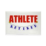 Retired Athlete Rectangle Magnet (10 pack)