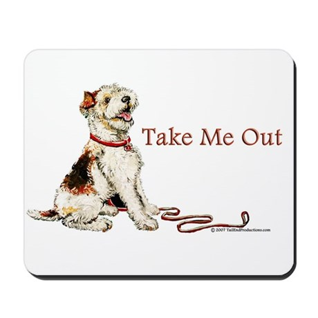 Wire Fox Terrier Dog Walk Mousepad