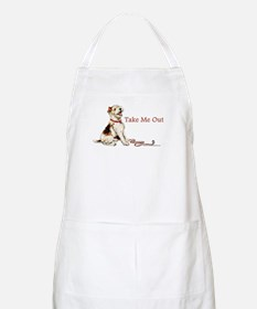 Wire Fox Terrier Dog Walk BBQ Apron