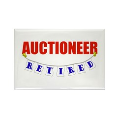 Retired Auctioneer Rectangle Magnet (100 pack)