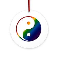 Gay Yin and Yang Keepsake (Round)