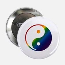 Gay Yin and Yang Button