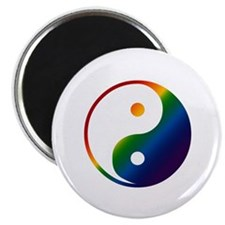 Gay Yin and Yang Magnet