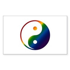Gay Yin and Yang Rectangle Decal