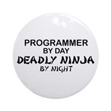 Programmer Deadly Ninja Ornament (Round)