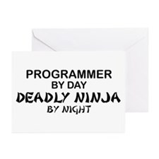 Programmer Deadly Ninja Greeting Cards (Pk of 10)