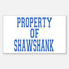 Property of Shawshank Rectangle Decal
