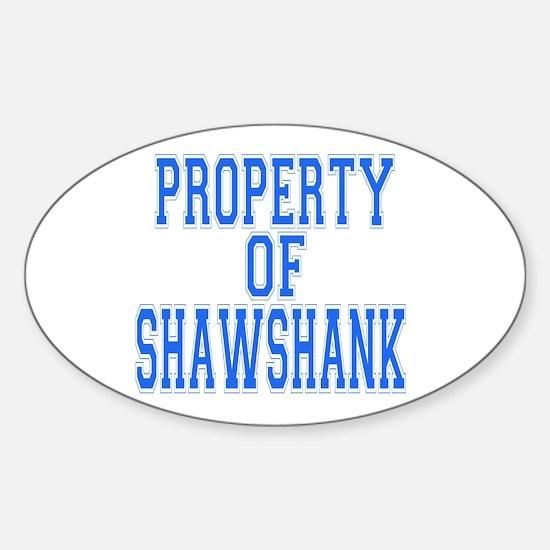 Property of Shawshank Oval Decal