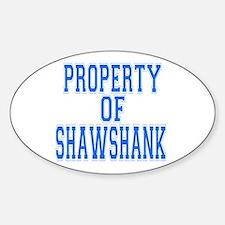 Property of Shawshank Oval Stickers