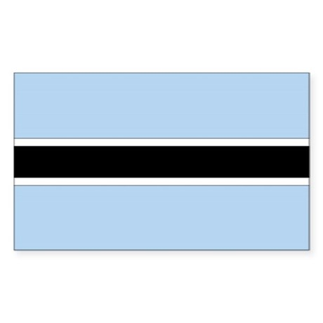 Botswana Country Flag Rectangle Sticker