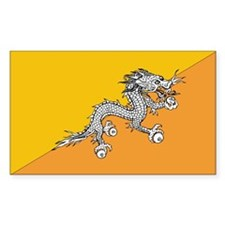 Bhutan Country Flag Rectangle Decal