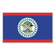 Belize Country Flag Rectangle Decal