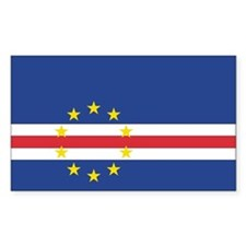 Cape Verde Country Flag Rectangle Decal