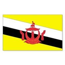 Brunei Country Flag Rectangle Decal