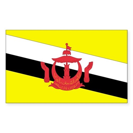 Brunei Country Flag Rectangle Sticker