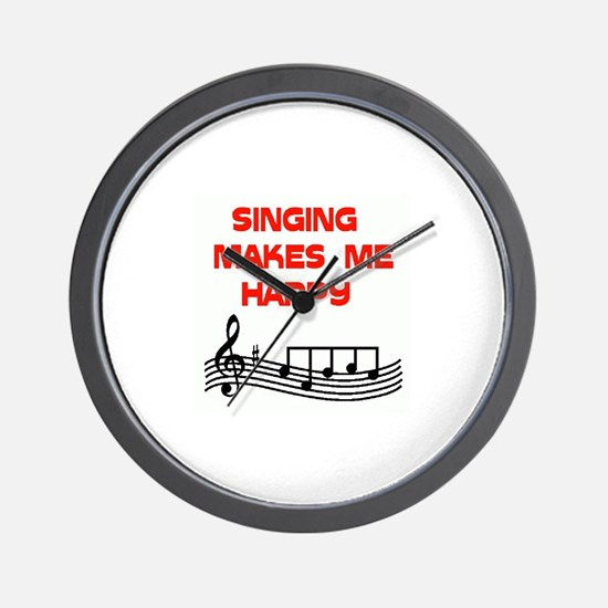 HAPPY SINGER Wall Clock