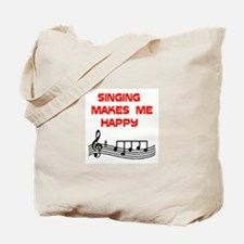 HAPPY SINGER Tote Bag