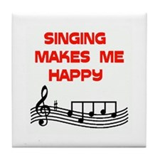HAPPY SINGER Tile Coaster