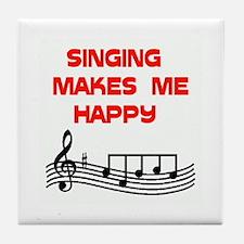 HAPPY SINGER Tile Coaster