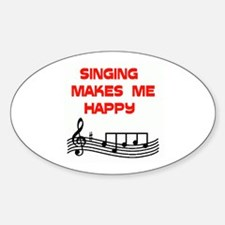 HAPPY SINGER Oval Decal
