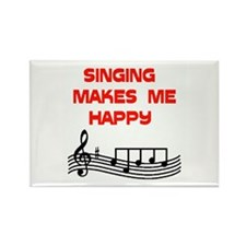 HAPPY SINGER Rectangle Magnet
