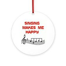 HAPPY SINGER Ornament (Round)
